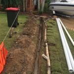 Blocked stormater drain